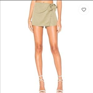By The Way. Trina Wrap Skort in Olive